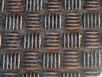 Vieux panneau en métal Images stock