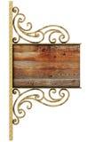 Vieux panneau indicateur. Image stock