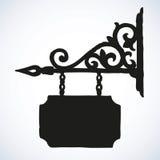 Vieux panneau indicateur Retrait de vecteur Photo stock