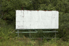 Vieux panneau-réclame blanc Photo libre de droits