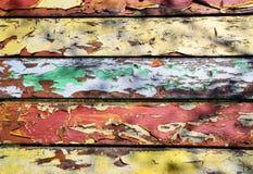Vieux panneaux multicolores colorés de peinture Image libre de droits