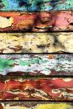 Vieux panneaux multicolores colorés de peinture Photographie stock libre de droits