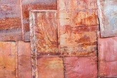Vieux panneaux rouillés en métal Image stock