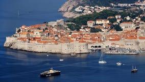 Vieux panorama de ville de Dubrovnik Image libre de droits