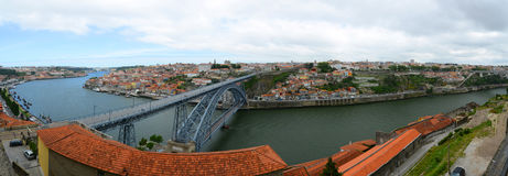 Vieux panorama de ville de Porto, Porto, Portugal Photos stock
