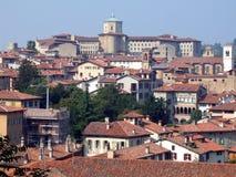 Vieux panorama de ville en Italie Photos libres de droits