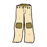 vieux pantalon raccordé par bande dessinée comique Photographie stock libre de droits