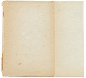 Vieux papier âgé déchiré déchiré plié d'antiquité de cru Images stock