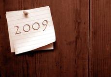Vieux papier avec 2009 Photographie stock libre de droits