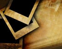 Vieux papier avec des photographies Photographie stock libre de droits