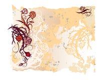 Vieux papier avec des roses Image libre de droits