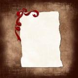 Vieux papier avec la bande Image libre de droits