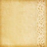 Vieux papier avec la frontière florale. Image stock