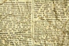 Vieux papier avec le texte Photos libres de droits