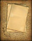 Vieux papier avec le texte manuscrit Photographie stock