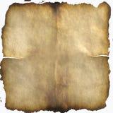 Vieux papier brûlé Image stock