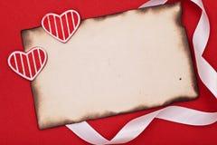 Vieux papier brûlé blanc Image stock