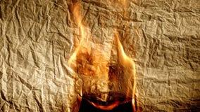 Vieux papier brûlant Photos libres de droits