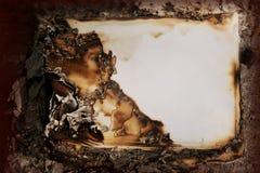Vieux papier brûlant, papier de vintage Images libres de droits