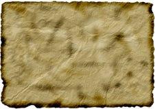 Vieux papier/carte brûlés Photo stock