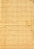 Vieux papier contrôlé texturisé jaune Photos stock