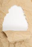 Vieux papier déchiré Image libre de droits