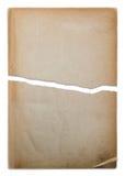 Vieux papier déchiré dans deux parties Photo stock