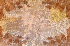 Vieux papier d'abrégé sur cru avec des motifs d'orchidée illustration stock