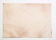 Vieux papier d'isolement Image stock