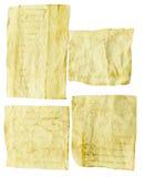 Vieux papier d'isolement sur le blanc Photos libres de droits