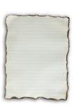 Vieux papier de brûlure Images libres de droits