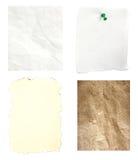 Vieux papier de brûlure chiffonné par mélange Photographie stock libre de droits