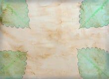 Vieux papier de cru avec le congé Photographie stock libre de droits