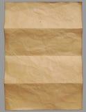 Vieux papier de cru vide Photo libre de droits