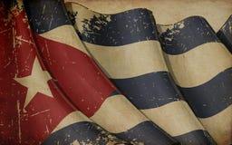 Vieux papier de drapeau cubain illustration libre de droits
