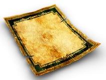 Vieux papier de fond âgé par cru Images stock