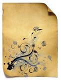Vieux papier de fond floral Photos libres de droits