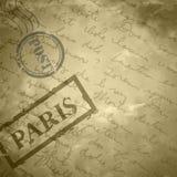 Vieux papier de fond rayé par grange beige légère Image stock