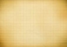 Vieux papier de graphique de millimètre vide Photos stock