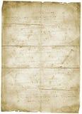 Vieux papier de grunge de vintage de lettre Image stock