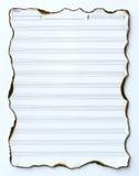 Vieux papier de musique vide Image libre de droits