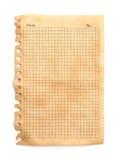 Vieux papier de note Photographie stock libre de droits