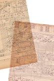 Vieux papier de plan électrique Photos stock