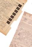 Vieux papier de plan électrique Photographie stock libre de droits