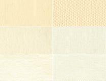 Vieux papier de texture beige réglée. Image stock