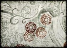 Vieux papier de type floral abstrait Photographie stock libre de droits