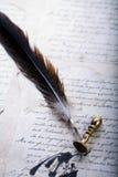 Vieux papier et crayon lecteur photo libre de droits