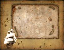 Vieux papier et récipient de navigation Photos libres de droits