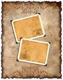 Vieux papier et rétro cadre de photo Image stock