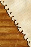 Vieux papier et texture en bois brune Image libre de droits